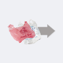 Loose plastic bags inside one bag and sealed tightly