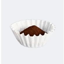Café molido y filtro de café