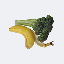 Banana Peel & broccoli stalk
