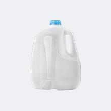 Jarra de leche plástica