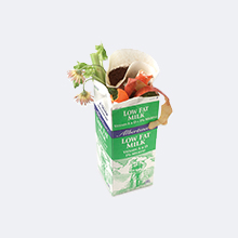 Food scraps in paper carton