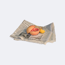 Food scraps in newspaper