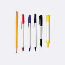 Lápiz, bolígrafos y marcadores